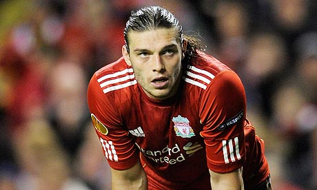 Andy Carroll looking miserable