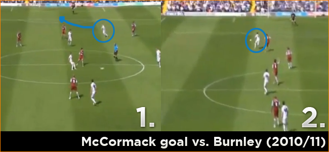 McCormack against Burnley